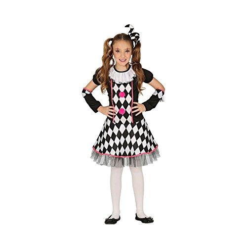 Fiesta Guirca Clown Harlekin Mädchen Kostüm Pirrot Narr ()