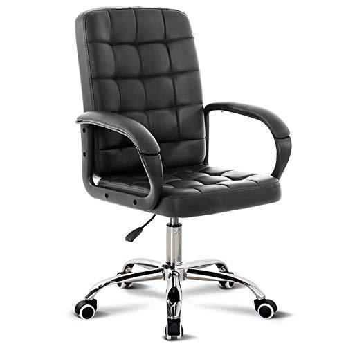 HIZLJJ Bürostuhl Ergonomische Günstige Schreibtischstuhl Mesh Computer Stuhl Lordosenstütze Moderne Executive Verstellbarer Hocker Drehstuhl für Rückenschmerzen (Color : Black) - Chrom Verstellbare Hocker