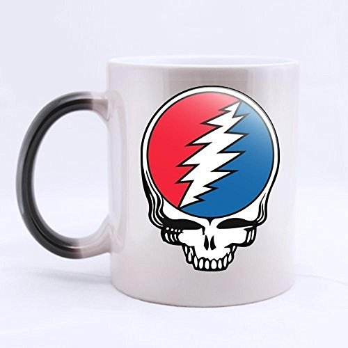 Mensuk Cool Band Grateful Dead Skull Custom Design Coffee Mug Novel Gift Mugs Color Change Ceramic...