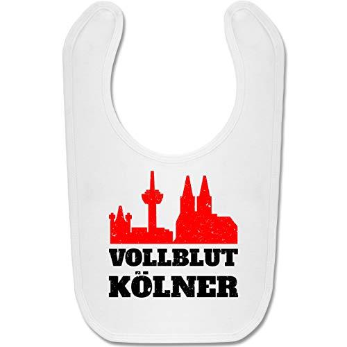 Städte & Länder Baby - Vollblut Kölner - Unisize - Weiß - BZ12 - Baby Lätzchen Baumwolle