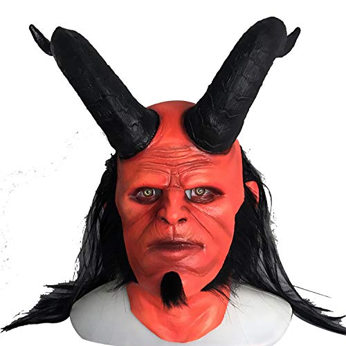WYJSS Höllenbaron Maske COS Deluxe Neuheit Halloween Kostüm Party Neue Latexmaske Thriller Film Halloween Dress Up Requisiten,OneSize-Band Angle