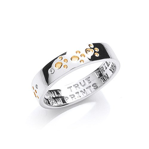 the-blue-cross-animal-charity-silver-band-ring-with-gold-plated-and-cubic-zirconia-paw-prints-size-o