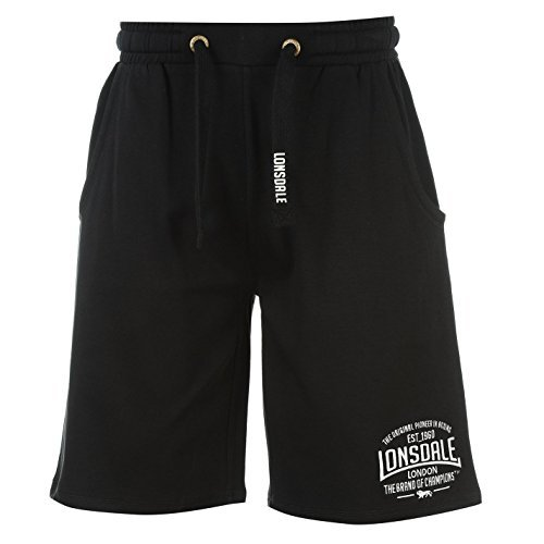 Lonsdale Mens Box Lightweight Shorts Pants Bottoms Boxing Sports Clothing Black Small Indoor Storage Box