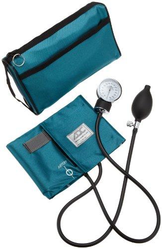American Diagnostic 768–11ATL prosphyg Pocket Aneroid Sphygmomanometer with adcuff Nylon Blutdruckmanschette, Erwachsene und Tragetasche, Blaugrün - Blutdruckmanschette Erwachsene