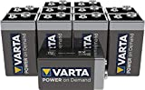 Varta Pile Power on Demand Confezione 10 Batterie Alcaline, Tipo 9V Transistor E-Block 6LR61