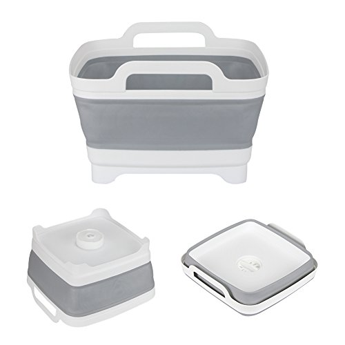 FHzytg Camping Spülschüssel Faltbar, Spüle Faltbar für Camping Küche, Zusammenklappbare Küche Korb Faltbar Abtropfsieb für Filter Gemüse Frucht
