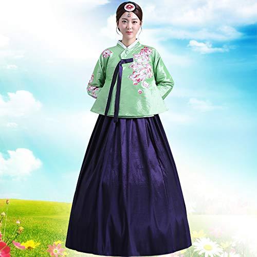 Cxlyq Hanfu Green Woman Elegantes Traditionelles Kostüm Minority Dance Performance Kleidung Weibliches Gericht Pincess - Women's Golf Kostüm