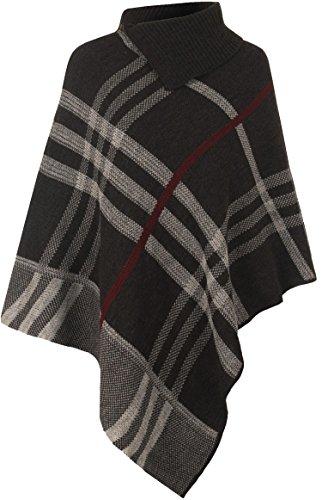 Mix lot nouvelle cascade de femmes dames poncho hiver au chaud tricoté cardigan aztèque diamant imprimé à rayures de pierre casual wear taille 36-42
