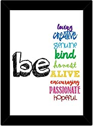 TiedRibbons® Inspirational Wall Posters for Study Room with Frame(13.6 inch X 10.2 inch)