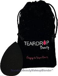 Original Teardrop Beauty Makeup Blender® FOUNDATION SPONGES WEDGE COSMETIC PUFFS (Black Teardrop + Bag)