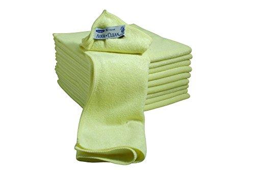 AQUA CLEAN Microfaser X-Treme Tücher 10er Set (gelb)