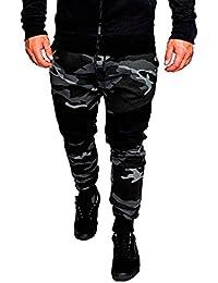 Dazosue Mens Camo Pantalones Pantalones Pantalones Joggers Athletic Bodybuilding