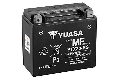 Batteria YUASA ytx20-BS, 12V/18ah (dimensioni: 174X 87X 154) per Harley Davidson fxrs 1340Low Glide anno di costruzione 1983