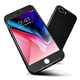 Coque iPhone 7 Plus, ORETech 360° Corps Entier PC Matière Coque iPhone 7 Plus avec [2-Pièces Protecteur D'écran En Verre Trempé] [mince] [Léger] pour iPhone 7 Plus Housse Case Cover -5,5 pouces - Noir