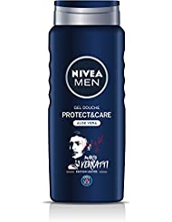 NIVEA MEN Gel Douche Protect & Care Edition Limitée Paris Saint-germain 500 ml- Lot de 3