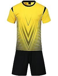 364563d0f2e79 BOZEVON Traje de fútbol de los Hombres de Verano Ropa Deportiva Uniformes  Equipo de Entrenamiento de Manga Corta Trajes de Entrenamiento para…