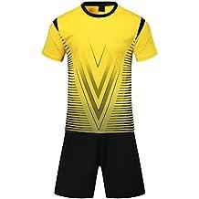 KINDOYO Traje de fútbol de los Hombres de Verano Ropa Deportiva Uniformes Equipo de Entrenamiento de