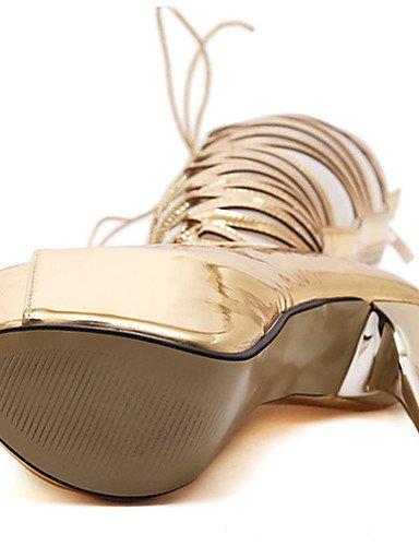 WSS 2016 Chaussures Femme-Décontracté-Or-Talon Aiguille-Talons-Chaussures à Talons-Polyuréthane golden-us7.5 / eu38 / uk5.5 / cn38