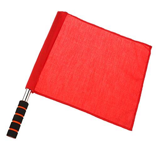 Schiedsrichterausrüstung Schiedsrichter Fußball Hocky Lineman Flagge Fahne Wettbewerb Flagge - Rot