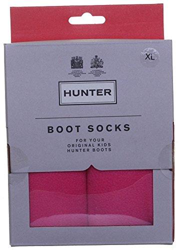 Hunter Chaussettes pour bottes enfant Unisexe - 100%  Polyester-Wellington Chaussettes pour bottes en caoutchouc Rose - Fuchsia wq12