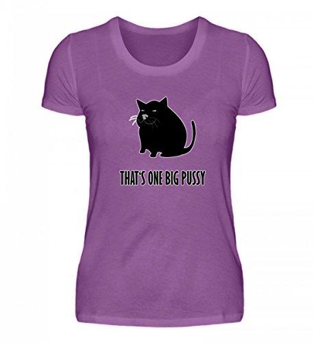 Camicia Organica Da Donna Di Alta Qualità Di Shirtee - Questa È Una Grande Figa - Divertente Grande Gatto Che Dice Viola