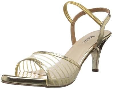 Inc.5 Women's Gold Fashion Sandals - 3 UK (138 4904)