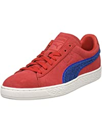 PUMA Men's Suede Classic Terry Sneaker, Toreador-Lapis Blue, 14 M US