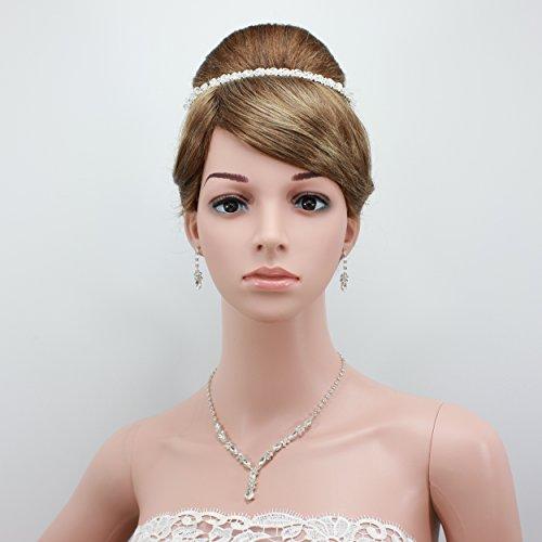 shmily pura mano boda Cristal Brillantes Diadem Diadema de pelo cabello novia joyas plata nuevo dh2006