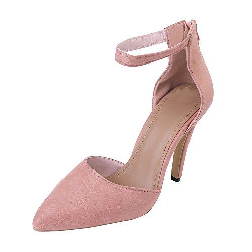 UFACE Damen Pumps Sommer High Heels Schuhe Damen Wildleder Riemchen Spitz Stilettos Hochzeit Schuhe Schuhe Spike Heel