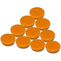 Set da 10 magneti arancioni - Ø 30 mm - calamite rotondi da ufficio arancioni con 300 g forza di tenuta per lavagne bianche lavagne magnetiche pannelli magnetici pannelli per appunti frigorifero - Foto Cartolina Postale