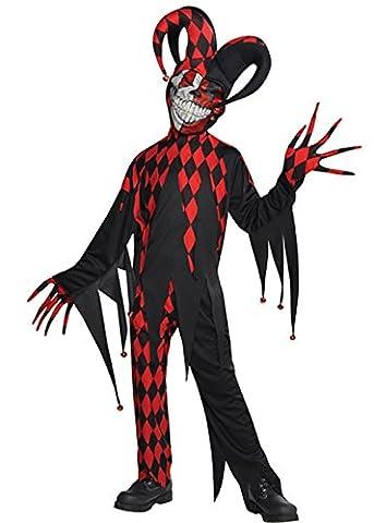 Kinder Halloween Crazed Evil Jester Kostüm XL (12-14