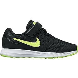 Nike Downshifter 7 GS, Scarpe da Ginnastica Bambino, Nero (Black/Volt/White), 37.5 EU