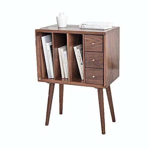LXDDP Hölzerner Nachttisch - Nachttisch mit Schublade Nachttisch Beistelltisch Schubladenschrank mit 3 Schubladen - für Wohnzimmer Schlafzimmer (50 * 30 * 70 cm) -