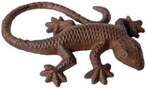 Accessoire de décoration en forme de salamandre, en alliage fonte,15,1 x 10,4 x 2,8 cm