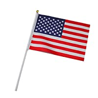 erioctry United States USA Stars and Stripes Small Country Stick Flag US Stick Flag (5.5 in. x 8.3 in.) 2 Pack