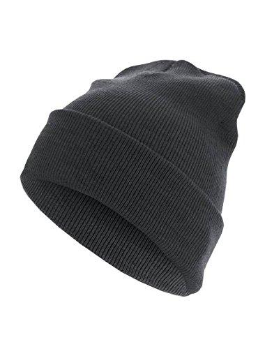 Beanie Basic Flap Long Version ht.charcoal