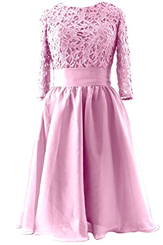 MACloth - Robe - Trapèze - Manches 3/4 - Femme Rose