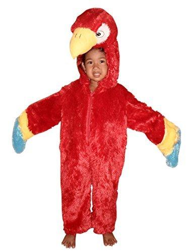 F32 taglia 2-3a (92-98cm) pappagallo costume costumi per neonati e bambini, indossabile comodamente sui vestiti normali