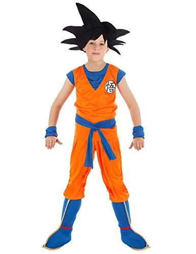Chaks Son Goku-Dragonball Z-Lizenzkostüm für Kinder orange-blau 128 (7-8 Jahre)