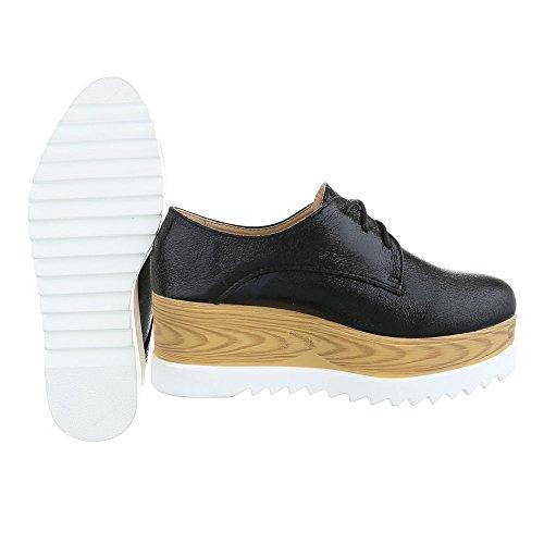 Ital-Design , Chaussures à lacets femme Noir