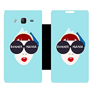 Skintice Designer Flip Cover with Vinyl wrap-around for Samsung Galaxy On5 , Design - summer mania