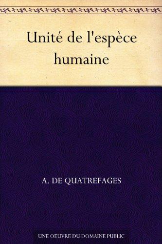 Couverture du livre Unité de l'espèce humaine