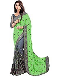 Jesti Designer Saree Women's Georgette Embroidery Saree With Blouse Piece(MSLatest-Collection-Chiffon-Saree# Sarees...