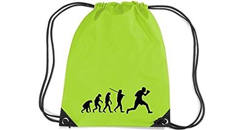Shirtstown Premium Gymsac Evolution Boîtes Boxer, vert lime