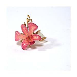 SUN D'KOH - Porte serviette Orchidée Rose Fushia