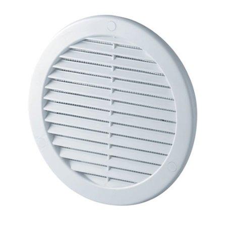 Rejilla de ventilación rejilla de ventilación de 200mm de diámetro Blanco 20cm Con antinsectos y brida redonda Canalizado zuluft rejilla de ventilación Tru 20K