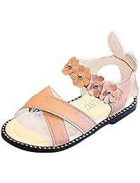 PAOLIAN Zapatos para Niñas Verano Playa Sandalias de Vestir Antideslizante Suela Blanda Zapatos de Boca de