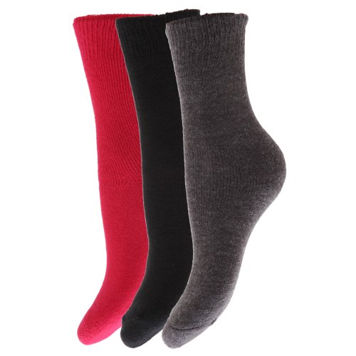 FLOSO® Childrens Boys/Girls Winter Thermal Socks (Pack Of 3)