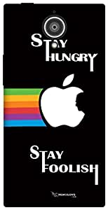 The Racoon Grip Stay Hungry Stay Foolish hard plastic printed back case / cover for Gionee Elite E7