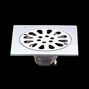 MTabc Drenaje De Piso Desagüe De Residuos Para El Suelo Cubiertas De Desagüe Acero Inoxidable Forma Cuadrada Anti-Olor…